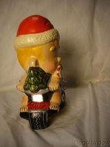 Vaillancourt Folk Art Santa Baby on Trike with Snowman Signed by Judi image 4