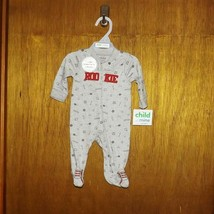 Carter's Child of Mine Gray Baseball Rookie 1 Pc Footed Play Suit  - $10.99