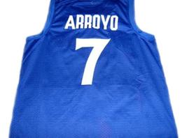 Carlos Arroyo #7 Puerto Rico Basketball Jersey Blue Any Size image 2