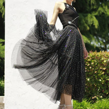 Black Tulle Party Skirt Women Tiered Layered Tulle Skirt Tulle Party Skirt Plus image 6