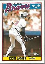 1989 Topps Minis Baseball-#39-Dion James-Braves - $4.04