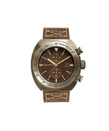 Szanto Men's SZ4103 ANTIQUE Bronze Stainless Steel Brown Leather Watch 4... - $299.50
