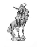Unicorn Pendant Charm Sterling Silver 925 Jewelry Fantasy Horse Mystical... - $41.58