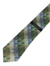 "New VAN HEUSEN Men's Silk Neck Tie Green, Blue Designer 58"" Retail $40 - $9.95"