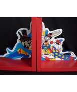 Looney Tunes Wooden bookends Bugs Taz Tweety Sylvester Warner Brothers - $25.24