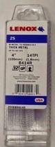 "Lenox 20488B414R 4"" x 14 TPI Recip Saw Blades Thick Metal Cutting 25 PK USA - $29.70"