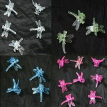 (100 Pack of 4) Colors Plastic Dragonfly Clips  by Sophie's Orchids - $42.25