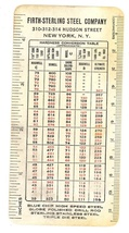 Firth Sterling Steel advertising pocket chart ruler 1930's vintage tool - $9.00