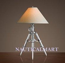 Royal Marine Tripod Table Lamp Aluminum - Home Decor - $395.00