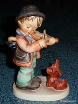 """Puppy Love"" Goebel Hummel Figurine #1 TMK6 Boy With Violin Playing To P... - $92.14"