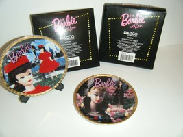 """BARBIE Collector's Plates Red Flare & Easter Parade MINI 4"""" Enesco Lot 1993 - $11.88"""