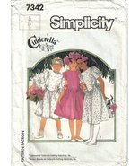 Simplicity Pattern 7342 Girl's Size 8 Dress with Side Ties Uncut - $6.99