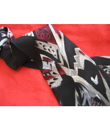 Vintage Mens NeckTie Red Black Gray White JT Beckett - $7.95