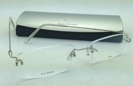 KAZUO KAWASAKI Eyeglasses MP 631 07 SA/50 Rimless Titanium Matte Silver Frames