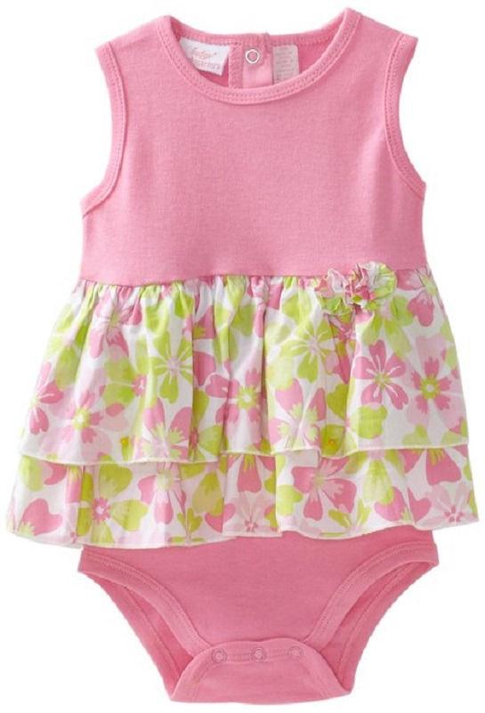 Infant Girl's Romper Baby Headquarters Bodysuit Creeper Pink Frills 1-piece NEW