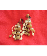 Vintage Clip EarringsTan Dangle - $7.95