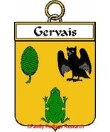 GERVAIS French Coat of Arms Print GERVAIS Famil... - $25.00