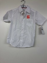 French Toast Boys Short Sleeve Classic Dress Shirt, Size 7, White - $7.84
