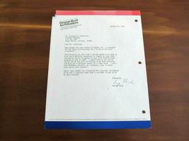 GEORGE H.W. BUSH 41ST US PRESIDENT SIGNED AUTO 1979 BUSH FOR PRESEDENT L... - $494.99