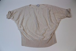 W12982 Womens ANN TAYLOR LOFT Cream Short Sleeve BLOUSON Dolman SWEATER XS - $28.97