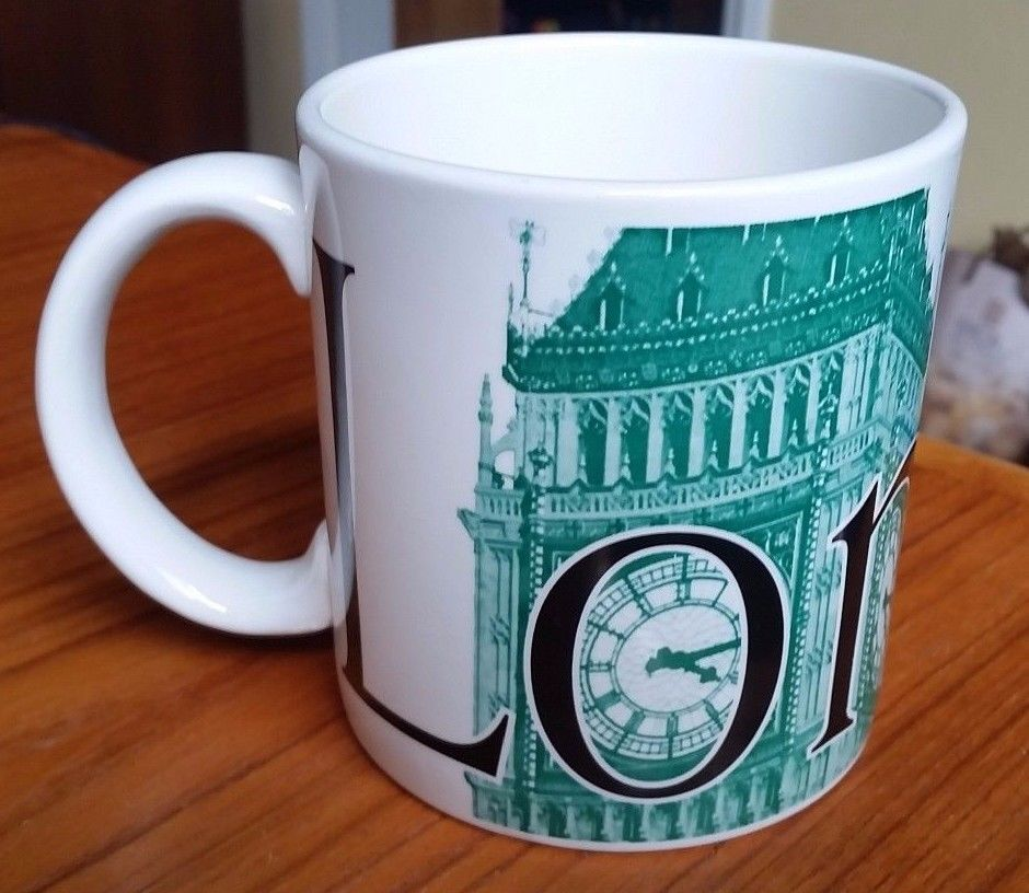 STARBUCKS 2002 LONDON CityMug Mug Collectors Series 22oz Made in England Big Ben
