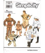 Simplicity 9899 Child's Lone Ranger Tonto Silver Scout Costume Pattern 2-12 - $9.95
