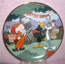Looney Tunes Daffy Duck Bugs Bunny Elmer Fudd Rabbit Seasoning Plate - $38.86