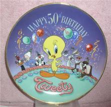 Looney Tunes Happy 50th Birthday Tweety Plate - $29.99
