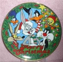 Looney Wile E. Coyote, Road Runner  Daffy Duck Tweety Tunes Christmas Plate - $49.99