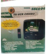 """Symphonic 9"""" Color Gaming CRT TV VCR VHS AC DC Combo ssc099with RV camping - $189.99"""
