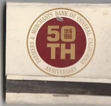 Vtg Strike on Matchbook  ~ Farmers & Merchants Bank of Central Californi... - $7.91