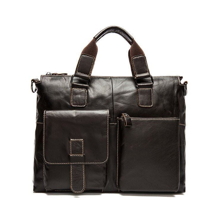 BDF 2017 Men messenger bag genuine leather briefcase fashion designer Business