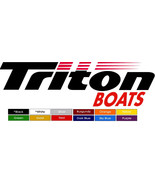 TRITON Boats Marine Vinyl decals (2) with two colors 11.5 X 4 Inch Not P... - $12.33