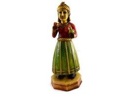 Handmade Hand painted Indian Village girl Resin Figurine Sculpture - $146.99