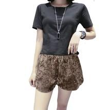 "Cotton 2019 summer new black Short sleeve Tops Tees women""s fashion Slim... - $24.80"