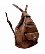 Womens Shoulder Bag Genuine Leather Backpack Purse Sling Handbag in Conv... - $50.50