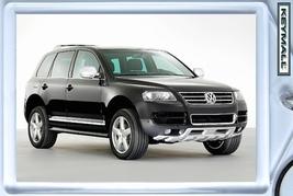 KEY CHAIN 2002/2003/2004/2005/2006/2007/2008/2009/2010 BLACK VW TOUAREG ... - $9.95