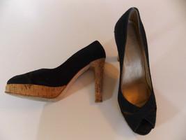 Stuart Weitzman U-Ausschnitt Schwarz High Heels Pumps Größe 8.5 M Stoff ... - $61.56