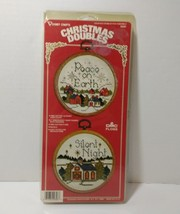 "Christmas Doubles Cross Stitch Vogart Crafts 4"" Unopened - $8.79"