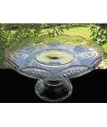 Antique EAPG Sunk Daisy Glass High Standard Cake Stand - $45.00