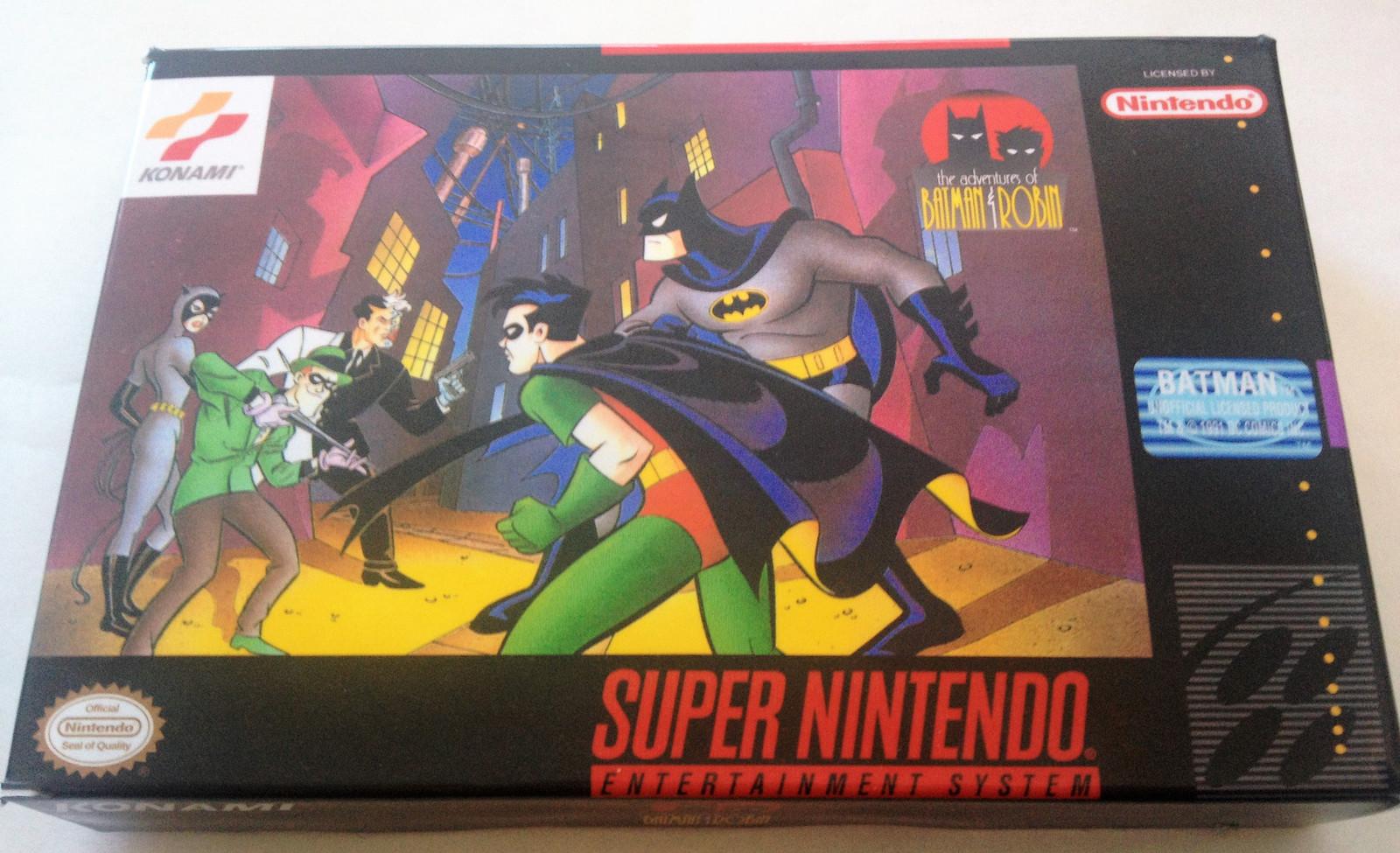 The Adventures of Batman & Robin - (Super Nintendo, SNES) - Repro Cart w/ Mini B