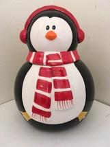 Christmas Penguin Cookie Jar - $24.75