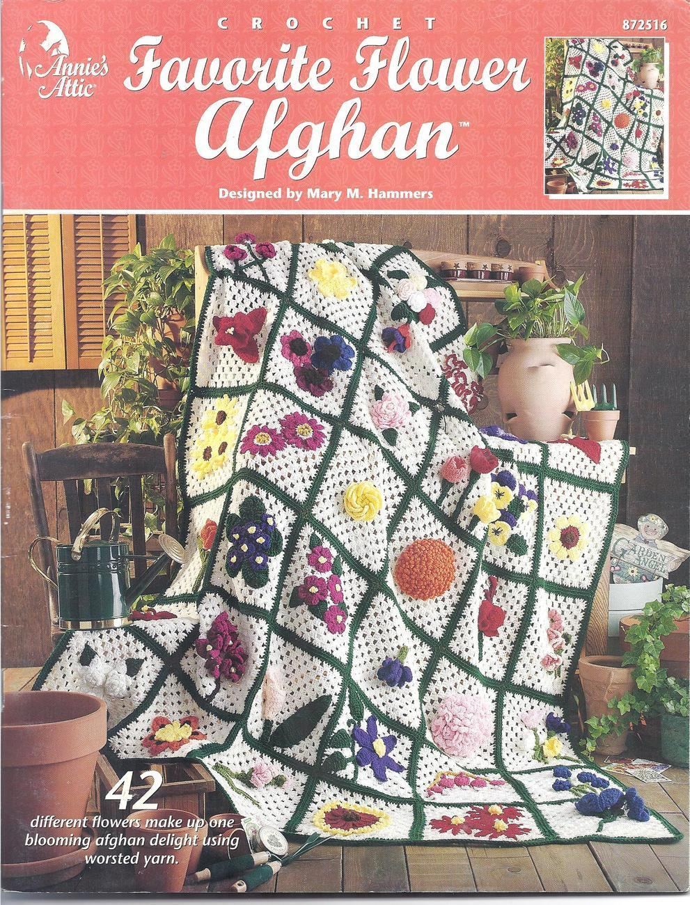 Annie\'s Favorite Flower Afghan Crochet and 12 similar items