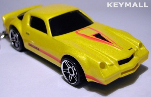 Primary image for KEY CHAIN 77~78~79~80 YELLOW & RED CHEVY CAMARO Z28 NEW PORTE CLE LLAVERO БРЕ