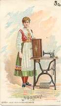 Singer Sewing  Norway lady 1892 Victorian Trade Card - $7.00