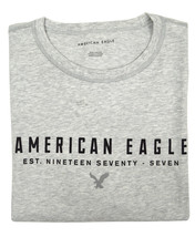 American Eagle Mens Gray Scoop Hem AE 1977 Graphic Tee T-shirt X-Large X... - $332,56 MXN