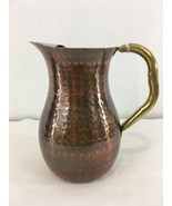 NEW Old Dutch Hand Hammered Copper Plated Odi 7 India 2.25 Qt Water Pitcher - $48.51