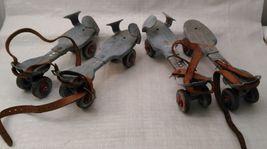 Metal Roller Skates Adjustable Primitive Farm Country Decor 2 Pairs Mid Century image 5