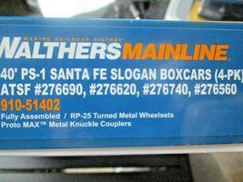 Walthers  Mainline # 910-51402 Santa Fe Slogan PS-1 40' Boxcars (4-PK)  HO-Scale image 7