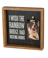 Wish Rainbow Bridge had Visiting Hours Frame Primitives by Kathy Picture... - $24.95